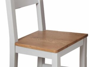 French Grey Extending Dining Table With 6 Grey Chairs