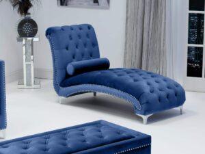 Dorchester Brushed Velvet Chaise Longue