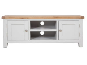French Grey Painted Wide Plasma TV Unit