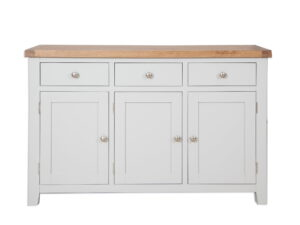 French Grey Painted Sideboard 3 Door 3 Drawer
