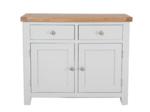 French Grey Painted Sideboard 2 Door 2 Drawer