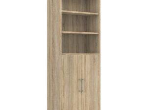 Prima Bookcase 5 Shelves with 2 Doors in Oak