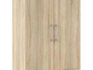 Prima Bookcase 2 Shelves with 2 Doors in Oak