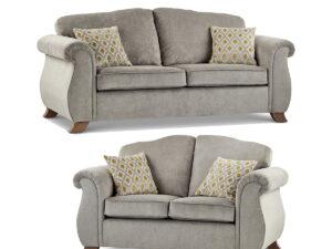 Bimshire Cheap Grey fabric 3 and 2 Seater Sofa Set