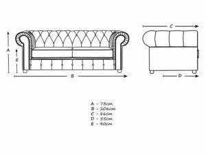 Chelmsford Plush Velvet Chesterfield Grey Sofa Suite