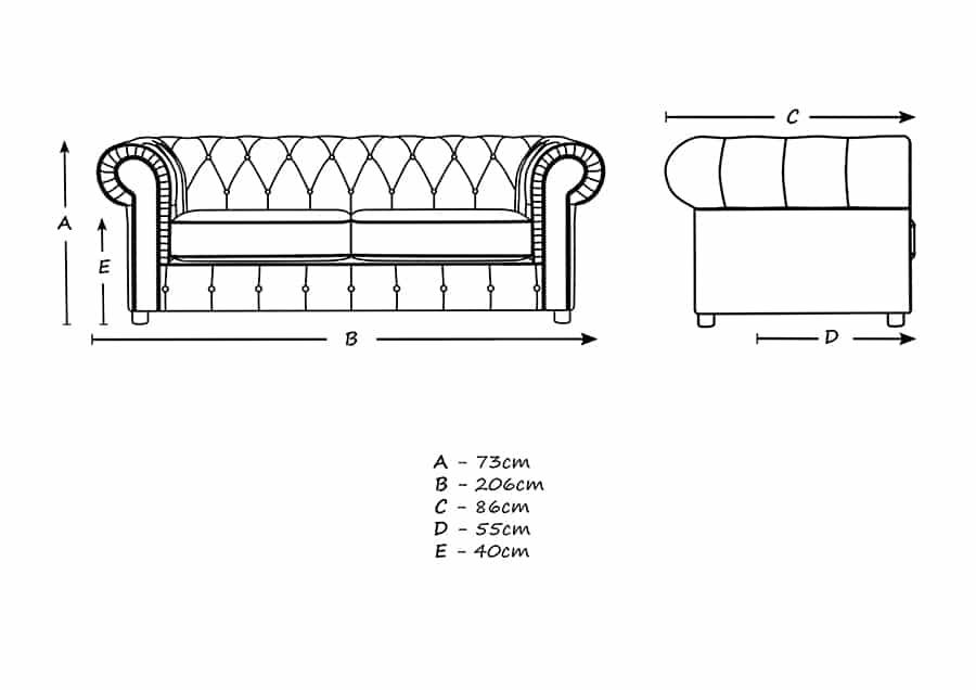 Chelmsford Plush Velvet Chesterfield Teal 3 Seater Sofa