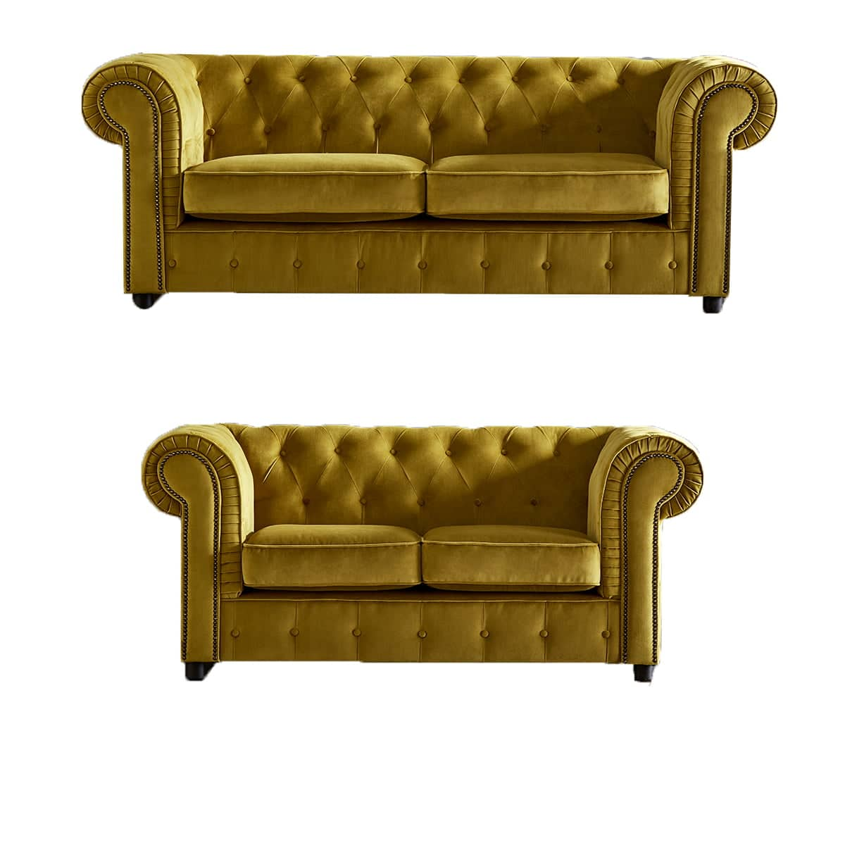 chelmsford yellow 3 and 2 sofa suite plush velvet chesterfield sofajpg
