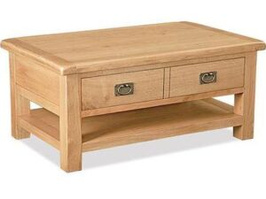 Sussex Oak Coffee Table 2 Drawer