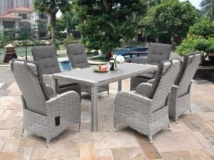 Chamberry 6 Seater Rattan Dining Set