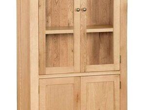 Sussex Oak Glazed Display Cabinet