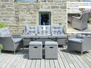 Slate Grey Jamaica Relaxed Dining Set