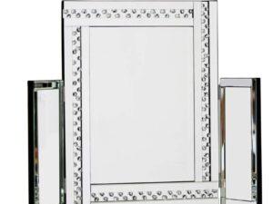 Glitz Silver Dressing Table Mirror Crystal Effect