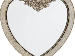 Mosaic Heart Sparkle Mirror Champagne 90x88cm