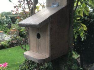 Wild Bird Nesting Tit Box Handmade