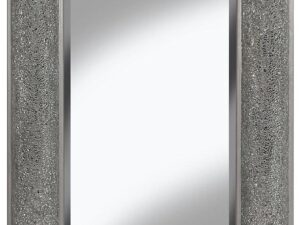Mosaic Bow Glitter Shimmer Mirror Silver 120x80cm
