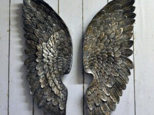 Antique Angel Wings Silver Left / Right Wings 70cm