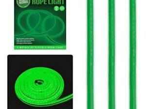 Global Gizmos 5 Metre LED Neon Flex Decorative Rope Light – Plastic, Green