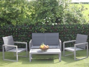 GARDEN PATIO SOFA SET PETANI 2 CHAIRS TABLE AND 2 SEATER CHAIR