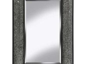 Mosaic Bow Glitter Shimmer Mirror Silver & Black 120x80cm