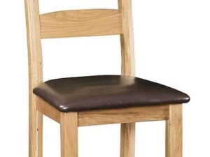 Sussex Oak Dining Chair with PU Seat