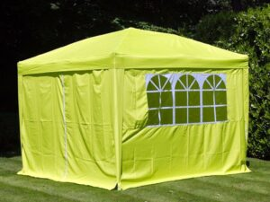 Gazebo Pop Up Lime Green 3 X 3M With Side Panels