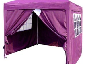 3 x 3m Purple Pop Up Gazebo with 4 Sides