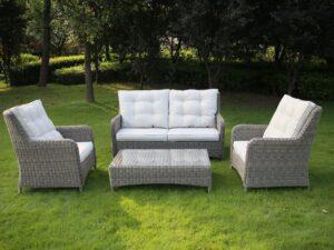 Mita Rattan Lounge Set With Cushions
