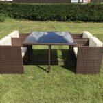 3 Piece Patio Furniture Rattan Corner Sofa Set Outdoor Sectional Sofa