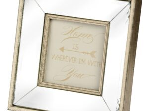 Square Mirror Bordered Photo Frame 4×4