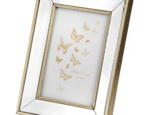 Small Rectangle Mirror Bordered Photo Frame 4×6