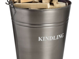 Antique Pewter Kindling Bucket