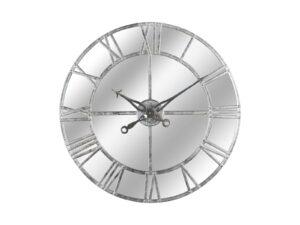 Silver Foil Mirrored Wall Clock