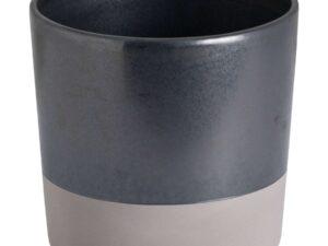 Large Metallic Grey Ceramic Planter