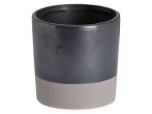 Metallic Grey Ceramic Planter