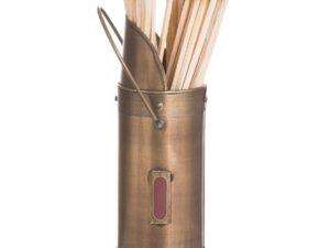 Antique Bronze Matchstick Holder With 60 Matches