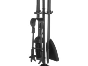 Ball Topped Companion Set In Black