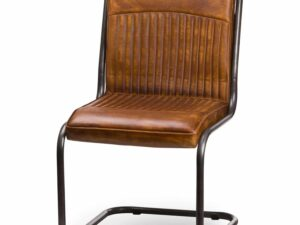 Billy Leather Ribbed Dining Chair
