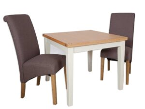 French Ivory Cream 90 x 90 Dining Table