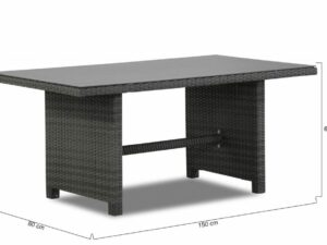 Corner Dining Patio Set Rattan Grey Left – Luna