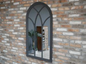 Grey Garden Outdoor Wood Mirror