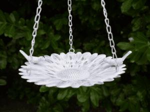 Metal Hanging Bird Feeder On Chain