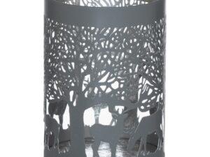 Medium Silver And Grey Glowray Stag In Forest Lantern