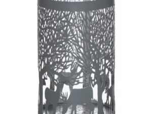 Large Silver And Grey Glowray Stag In Forest Lantern