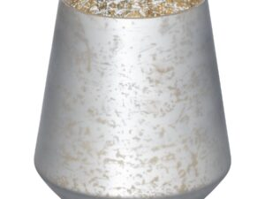 The Noel Collection Mystic Grey Flute Hurrican Candle Holder