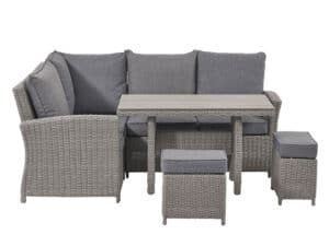 Slate Grey Barbados Compact Corner Set